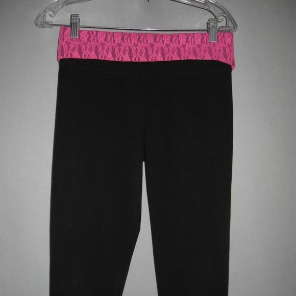 52c40b0f956eb1 PINK Victoria's Secret Pants | Victorias Secret Pink Capri Yoga Lace ...